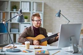 výučba gitary online cez Skype